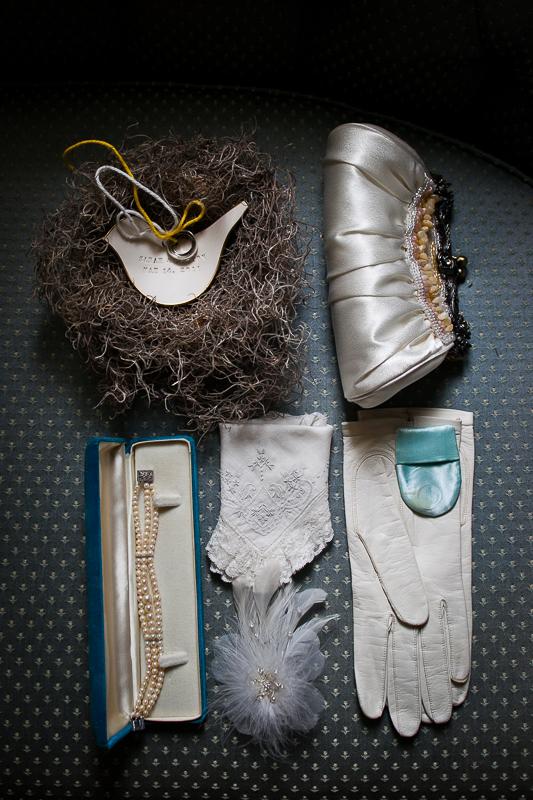 details of brides accessories
