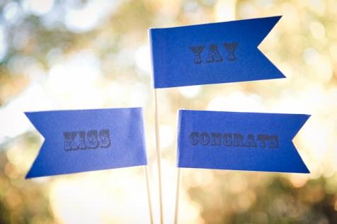 wedding flags with sayings