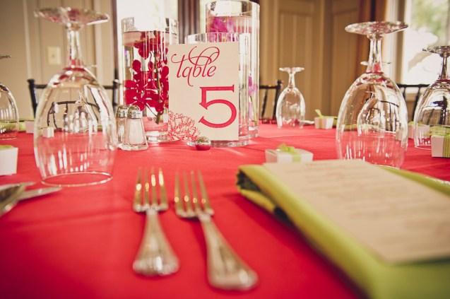 wedding reception table details ion creek club