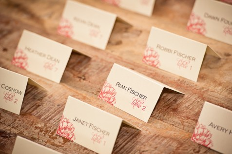 wedding reception table name tags ion creek club