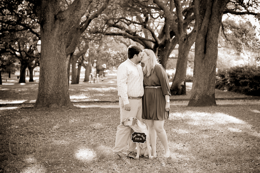 Charleston Battery Engagement Session with Pet Dog by Diana Deaver (1)