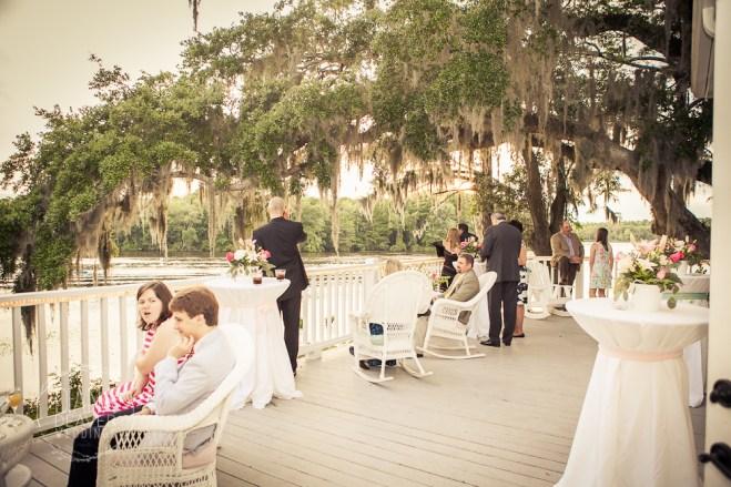 reception deck at Kimball's at Waxhesaw Plantation