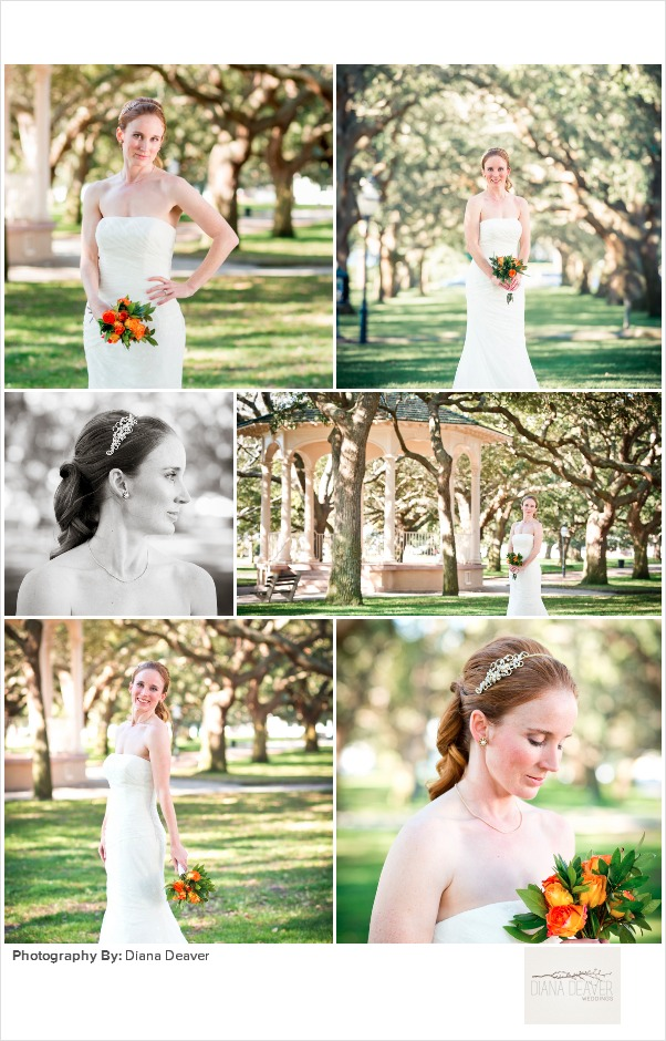 Downtown Charleston Bridal Photo Session