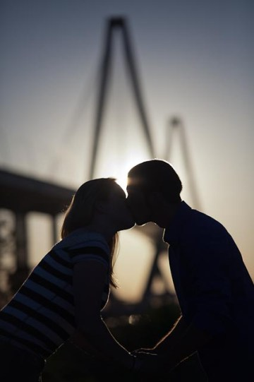 Engagement Session With Ravenel Bridge Charleston SC