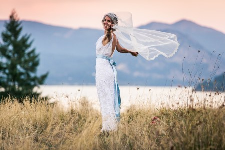 mountain bridal portrait