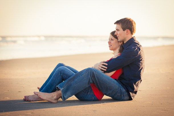 engagement session at the beach charleston sc