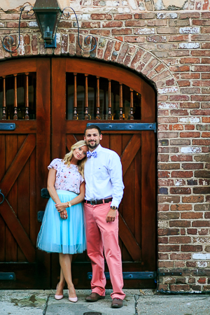 Engagement Session DOWNTOWN Charleston SC  photographed by wedding photographer