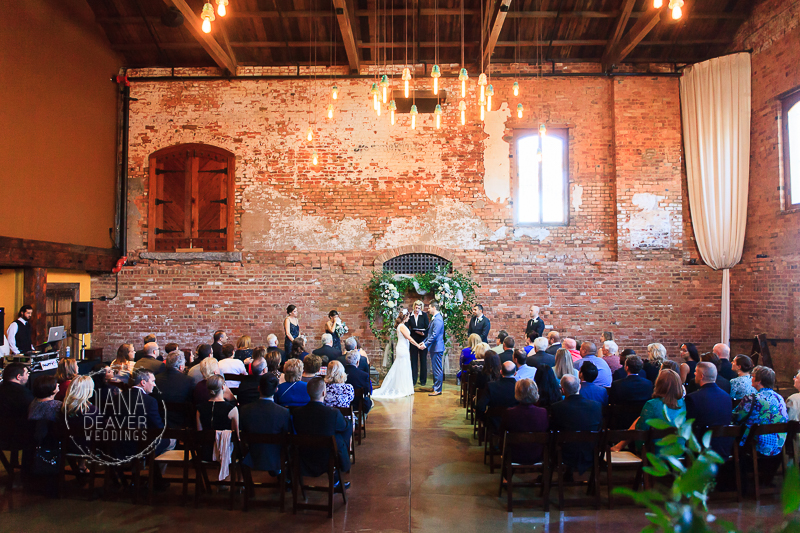 Wedding Photos at Old Cigar Wearhouse Wedding Venue Greenville SC photos by Diana Deaver Weddings