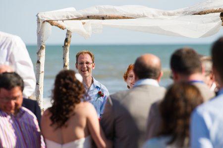 happy groom kiawah