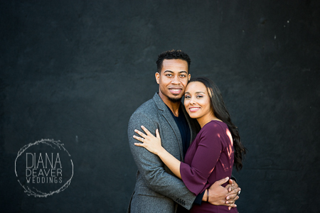 simple background engagement photos downtown charleston sc photographed by Diana Deaver Weddings