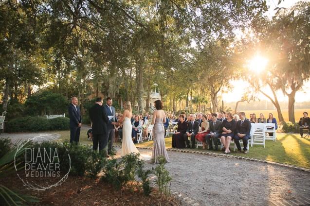 wedding ceremony ion creek club charleston sc
