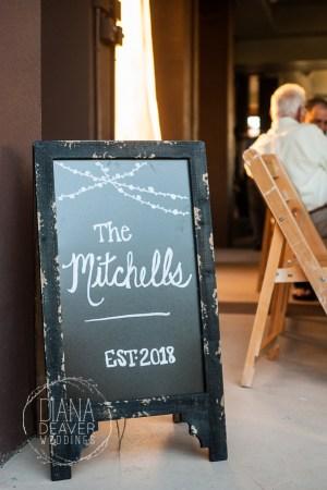 wedding sandwich sign