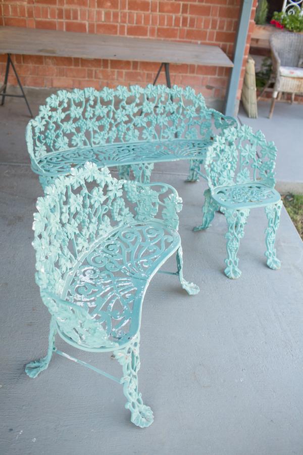 cast iron garden benches diana elizabeth