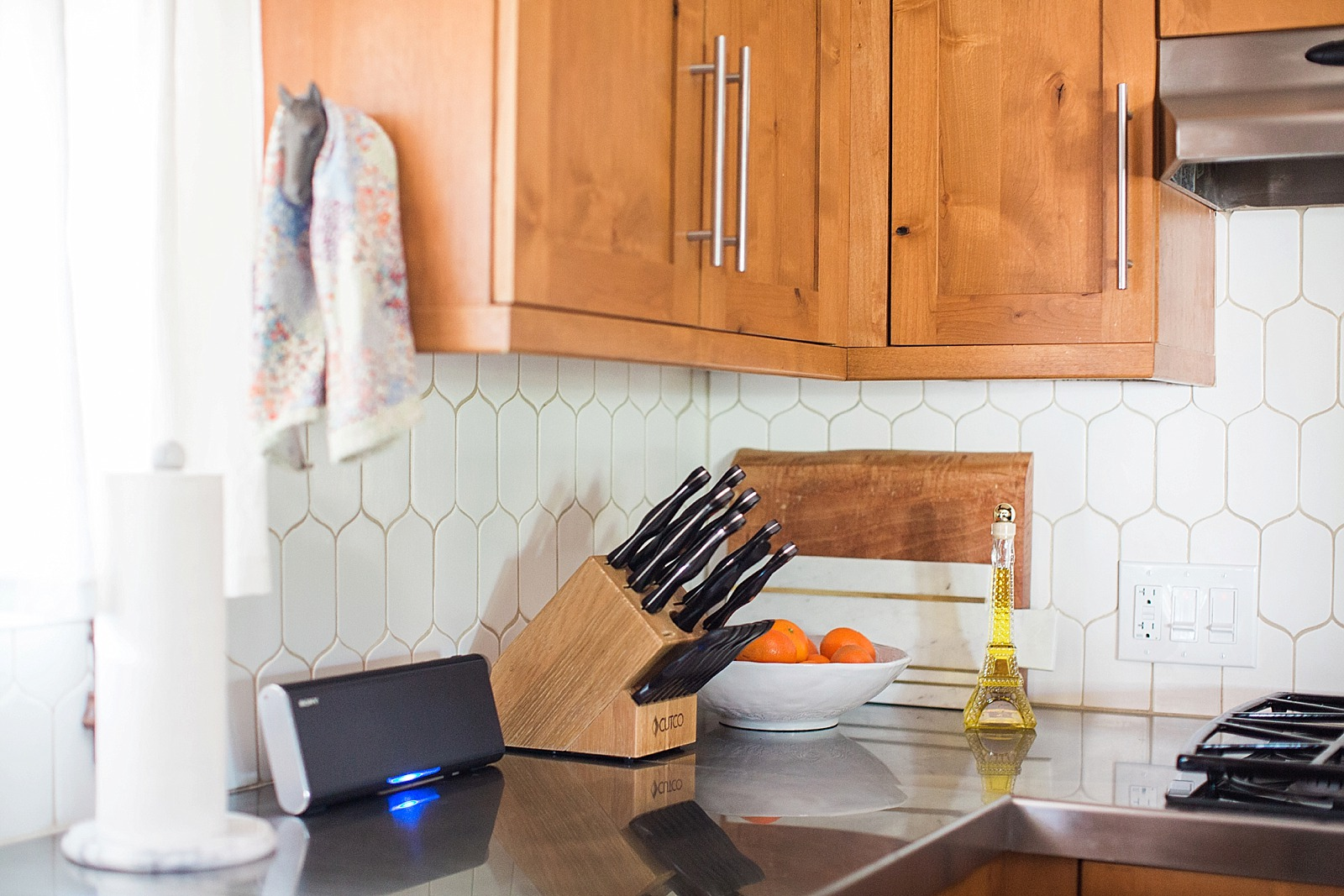 White kitchen backsplash remodel diana elizabeth backsplash kitchen white tile vertical 6th avenue cocoon mosaic walker zanger alternate of white subway dailygadgetfo Gallery