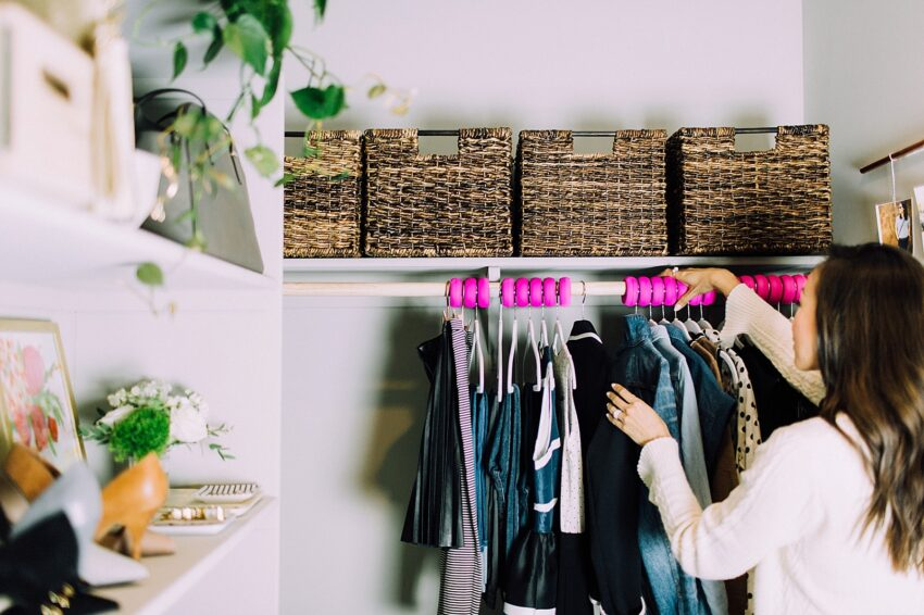 A tidy and well organized closet