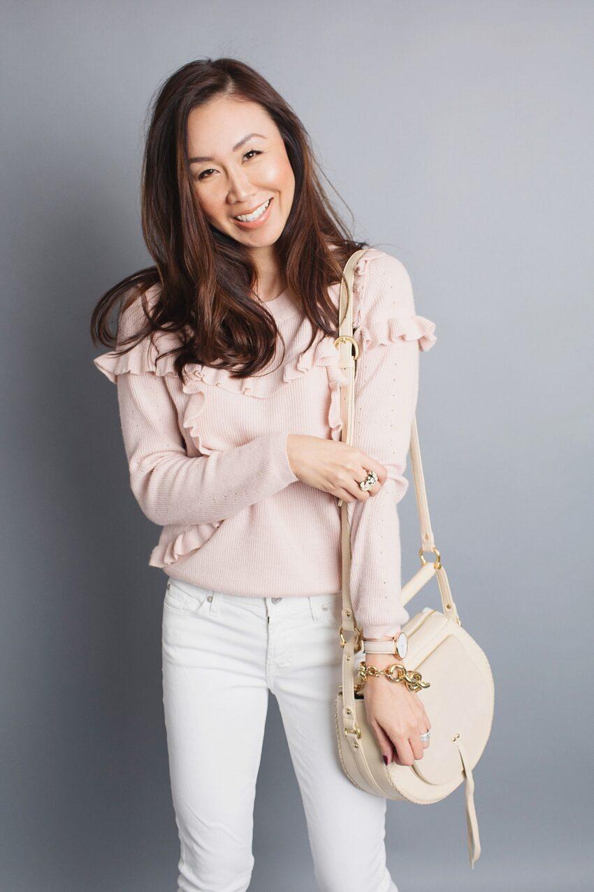 ruffled top topshop fashion blogger phoenix diana Elizabeth neutral outfit