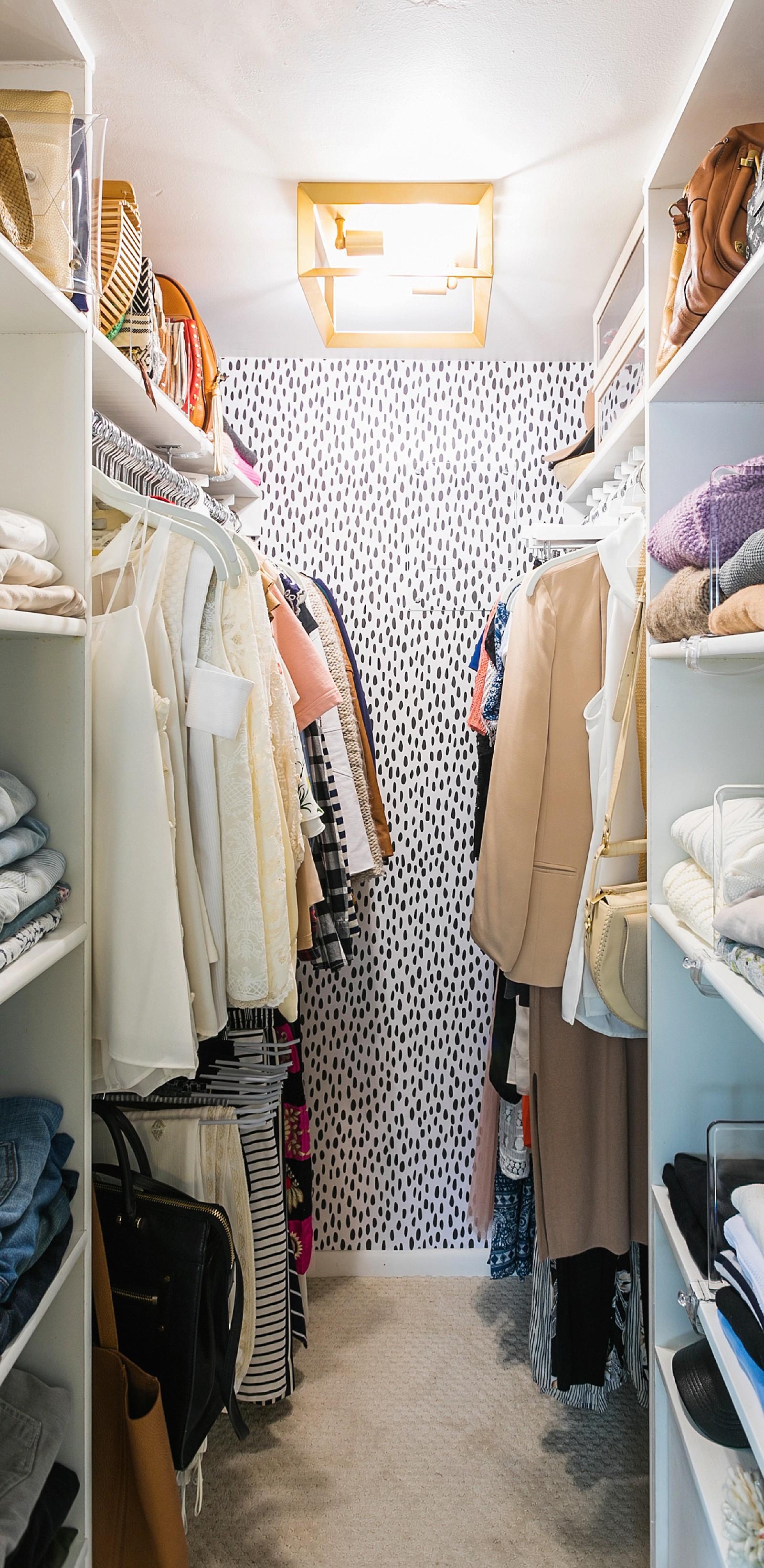 diana-elizabeth-blog-home-closet-spot-dot-wallpaper-tiny-closet ...