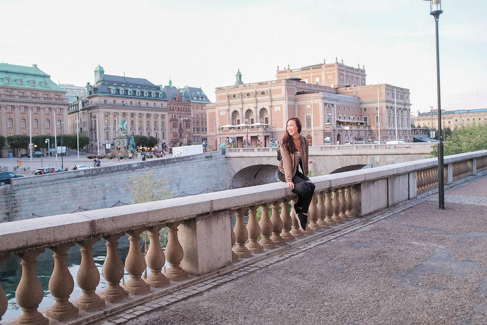 Photo tour of Stockholm: walking around sitting on bridge