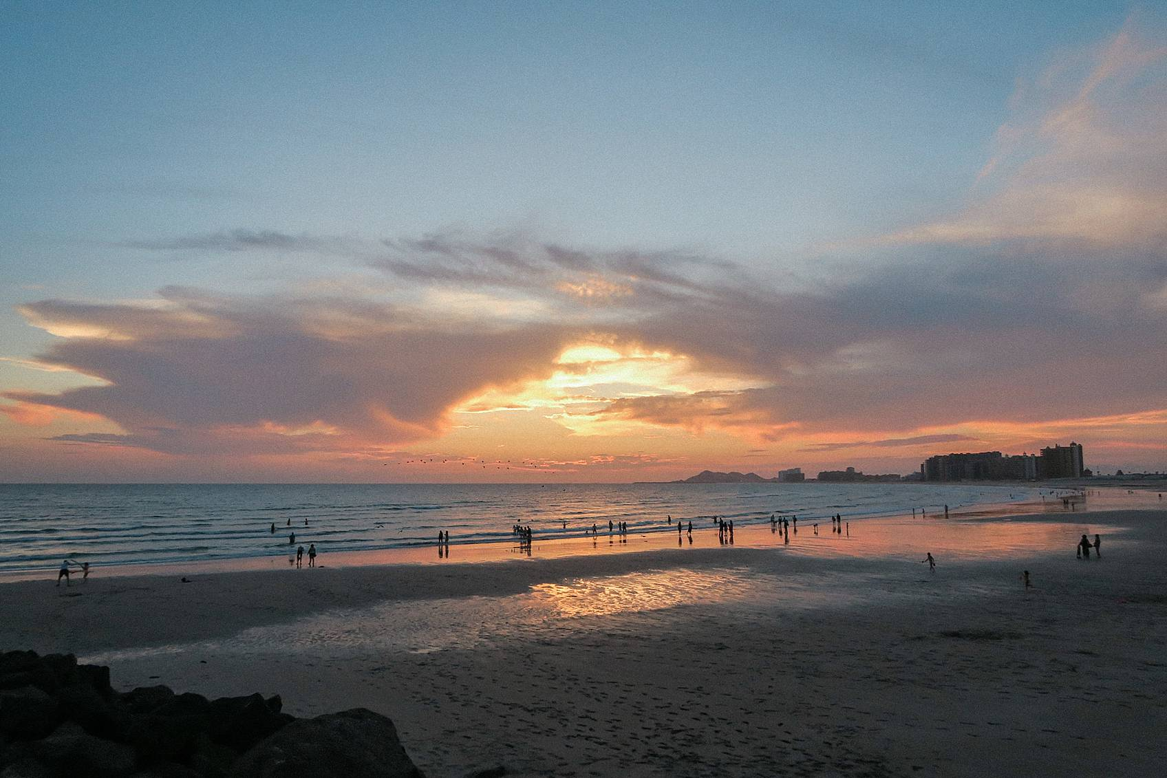 sunset at rocky point Mexico