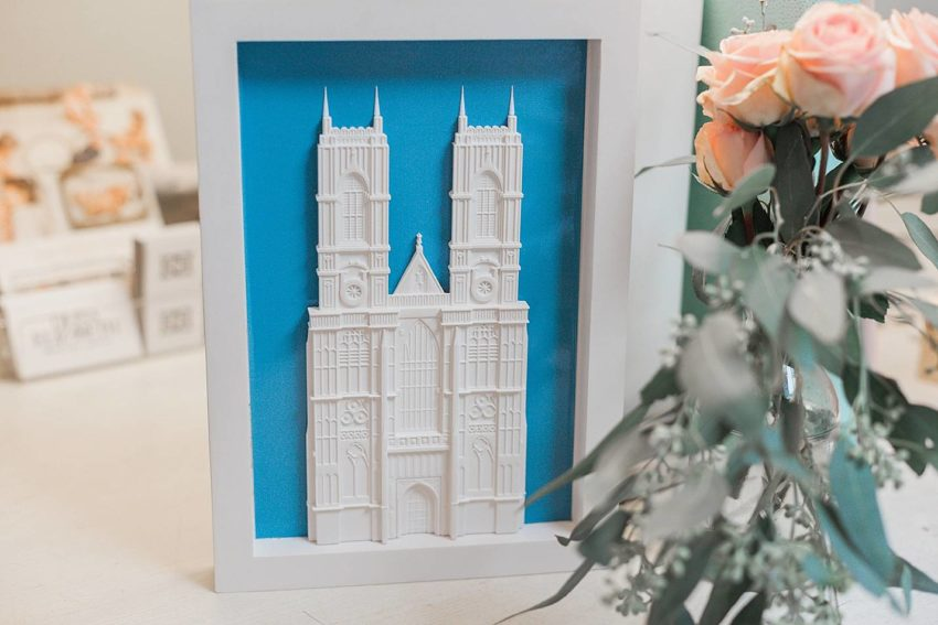 3d artwork of Westminster abbey made in England great for travel lovers by chisel & mouse