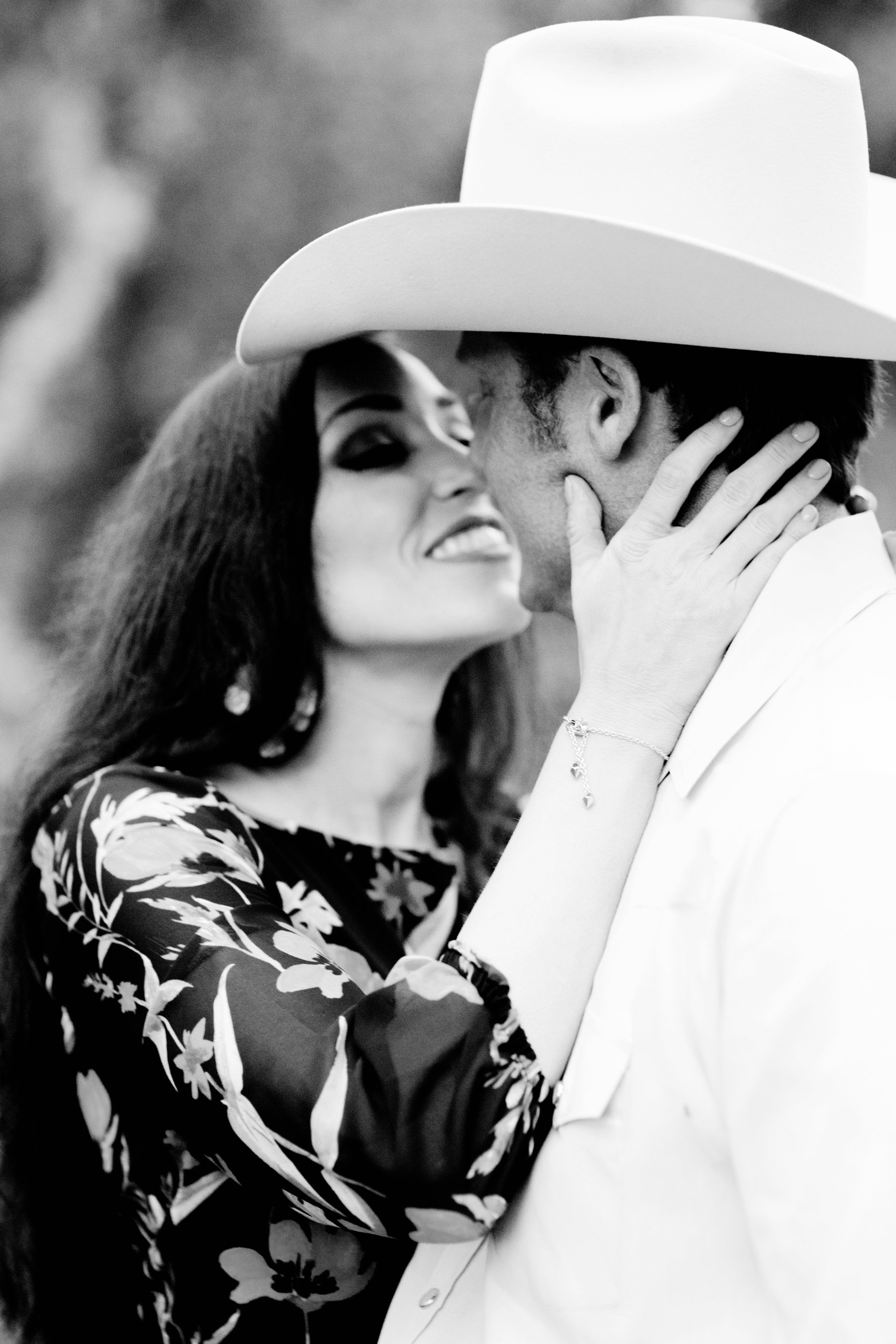 cowboy hat engagement session by the lake and woods in Northern California - Diana Elizabeth photography - www.dianaelizabeth.com