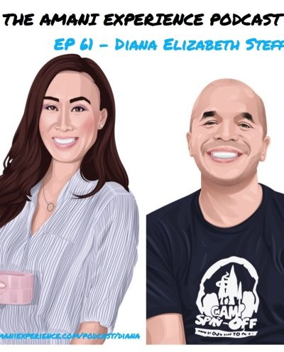 Lifestyle blogger advice entrepreneur Diana Elizabeth being interviewed about leaving corporate, advice on Amani Experience podcast