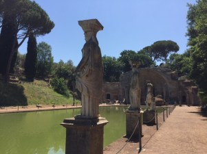 Day 5, Caryatids; view to the pavilion