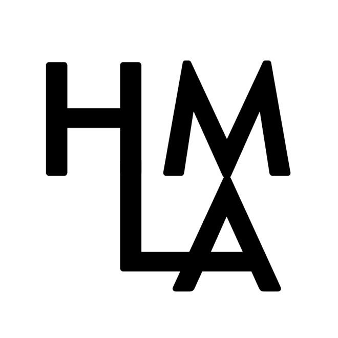 HMLA letter logo by Pasadena log designer Diana Kohne
