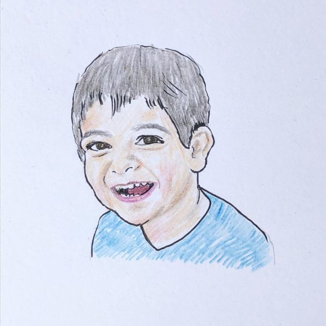 child portrait drawing
