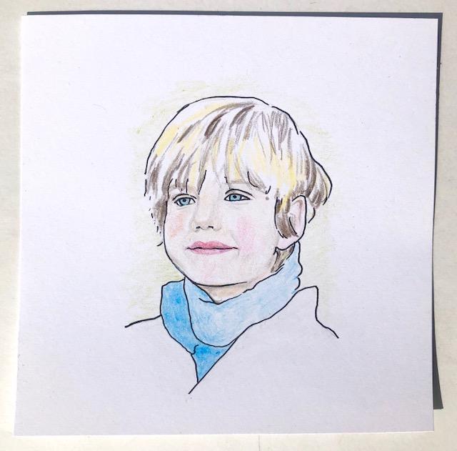 child pencil portrait commission by Diana Kohne