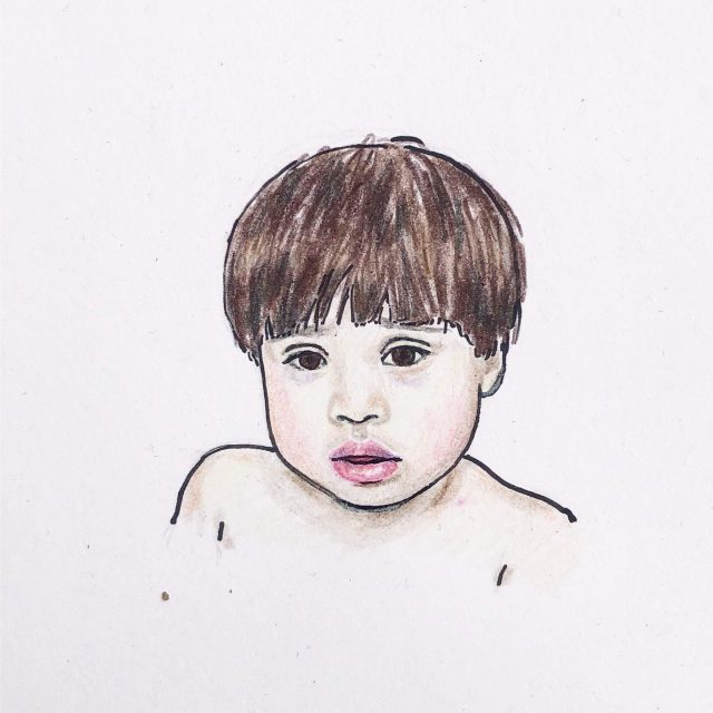 child portrait drawings
