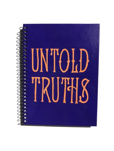 untold truths hand lettered journal