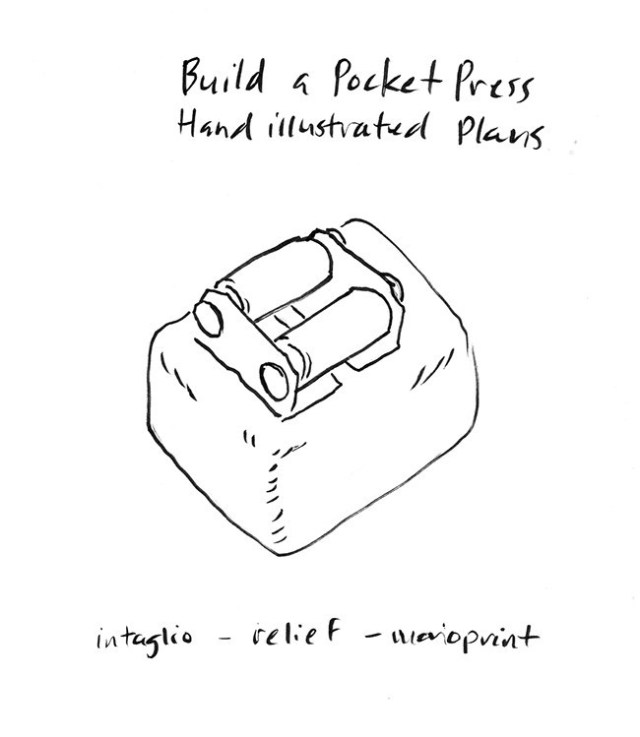 pocket printmaking press building plans by Diana Kohne