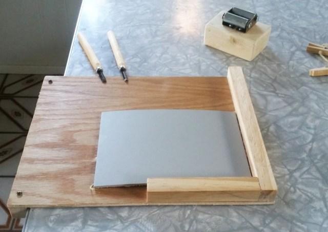 build a printmaking bench hook