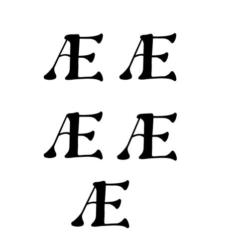 sell your original font Æ ligature by Diana Kohne Oh Honey! Font