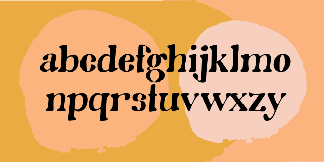 Oh Honey! font alphabet by Diana Kohne