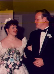 With Daddy at my wedding
