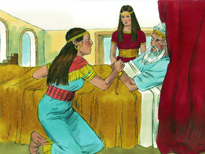 Bathsheba appeared to King David on his deathbed