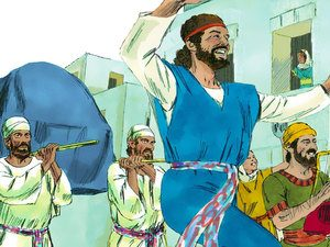 When David danced before the Lord, Michal despised him