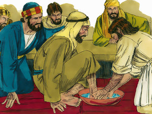 Jesus demonstrated what it means to serve one another