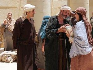 Simeon blesses the baby Jesus