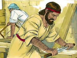 Jesus would have worked alongside Joseph to learn the trade of carpentry