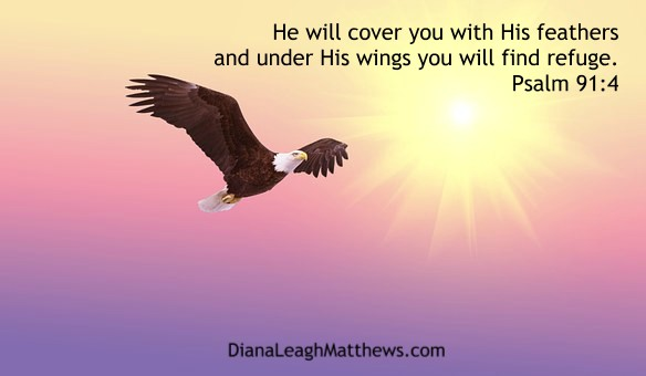 Covered with His wings