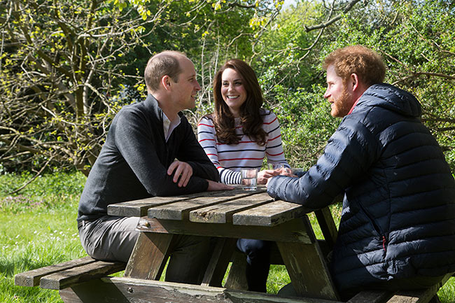 Kate, William and Harry were promoting their Heads Together campaign Photo (C) GETTY IMAGES