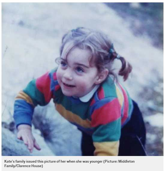 Kate's family issued this picture of her when she was younger