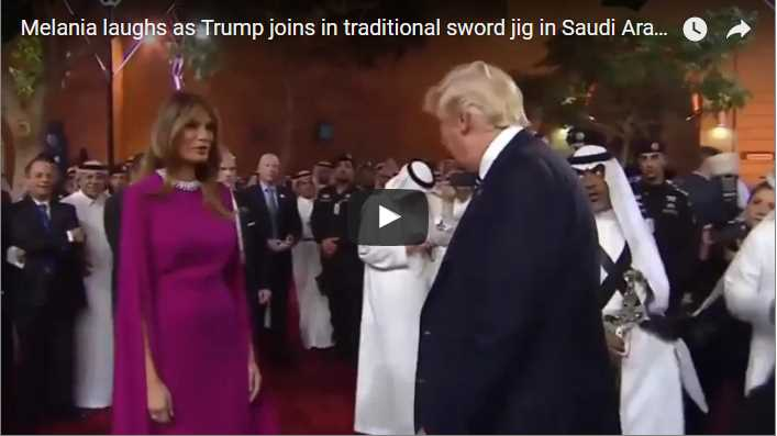 Melania laughs as Trump joins in traditional sword jig in Saudi Arabia