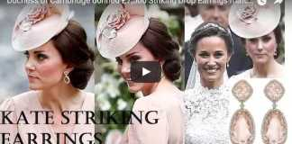 Duchess of Cambridge donned £7,500 Striking Drop Earrings matched with Dress at Pippa's Wedding