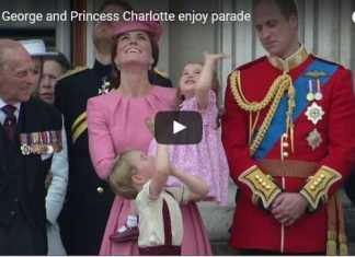 Prince George, Princess Charlotte, Parade, Video, Balcony, Trooping, Colour, Trooping Colour, Buckingham Palace