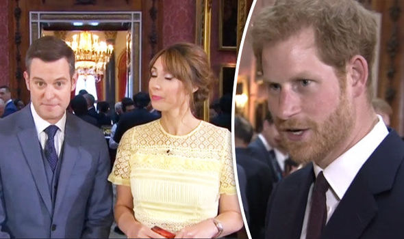 Prince Harry took over some of the presenting duties on tonight's The One Show Photo (C) BBC