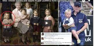 Video Mia Tindall steals the show in the Queen's 90th birthday portrait